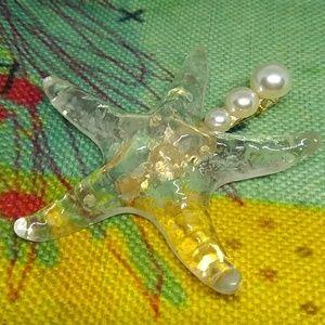 Iridescent Starfish Mermaid Hair Clip